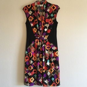 Maggy London Colorblock Slimming Stretch Dress